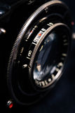 A retro camera lens close-up Stock Image
