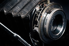 A retro camera lens close-up Royalty Free Stock Photo
