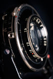 A retro camera lens close-up Royalty Free Stock Images