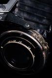 A retro camera lens close-up Stock Photo
