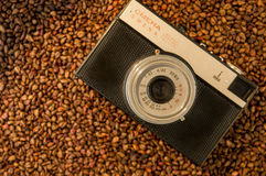 Retro camera. The LOMO Smena 8m is an entry-level camera from the 1970s Soviet Union, now mostly regarded as a toy camera Royalty Free Stock Images