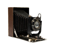 Retro camera medium format. Isolated on white background Royalty Free Stock Photo