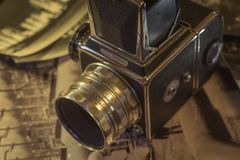 Retro camera medium format stock photography