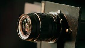 Lens retro camera medium format. Retro camera medium format turns close to stock video