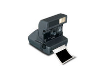 Retro camera met lege omlijsting Royalty-vrije Stock Fotografie