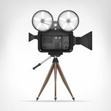 Retro camera object 3D design. On white illustration Stock Photo