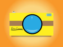 Retro camera vector illustration
