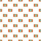 Retro camera pattern, cartoon style Stock Images