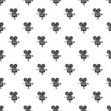 Retro camera pattern. Seamless repeat in cartoon style vector illustration Royalty Free Stock Images