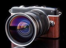 Retro camera photo lens Stock Photography