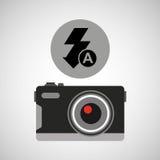 Retro camera photographic flash icon. Vector illustration eps 10 Royalty Free Stock Images