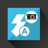 Retro camera photographic flash icon. Vector illustration eps 10 Royalty Free Stock Photos