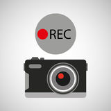 Retro camera photographic rec button Royalty Free Stock Photography
