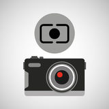 Retro camera photographic Royalty Free Stock Photography