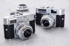 Retro camera Stock Image