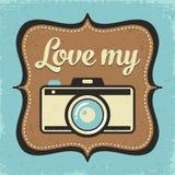 Retro camera poster Royalty Free Stock Image
