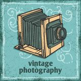 Retro Camera Poster Stock Image