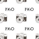 Retro camera 1960 seamless background. Vector EPS 10. Retro camera 1960 seamless background. Vector stock illustration