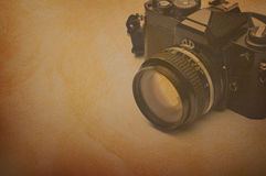 Retro camera textured Royalty Free Stock Images