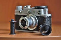 Retro camera of the 20th century royalty free stock photography