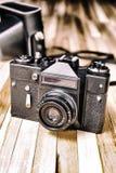 Retro camera van het film volledig-kader Stock Foto's