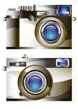 Retro camera  vector digital lens focus Royalty Free Stock Image