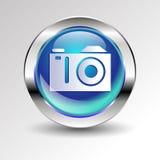Retro camera  vector digital lens focus photo Royalty Free Stock Photo