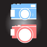 Retro camera. From vector it is two color and two style Stock Images