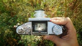 The retro camera viewfinder Royalty Free Stock Photo