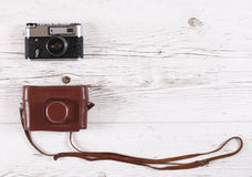 Retro camera Royalty Free Stock Photography
