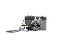 Retro camerafilm en de film van de Patrooncamera 35 mm Stock Fotografie