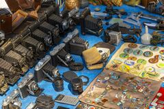 Retro cameras and badges