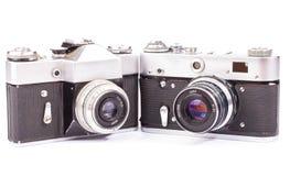 Retro cameras isolated Royalty Free Stock Photos