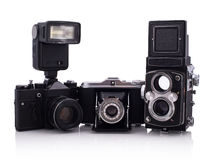 Retro cameras Royalty Free Stock Photos