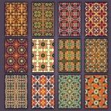 Retro camice delle carte della raccolta con le origini etniche Carta dell'invito con gli elementi d'annata di progettazione Fotografie Stock Libere da Diritti