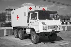 Retro camion dell'ospedale Fotografia Stock