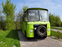 Retro campeggiatore d'annata di stile di vecchio verde d'annata del residuo Fotografia Stock Libera da Diritti
