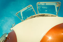 Retro Camper. Retro styled split-screen camper-van abstract royalty free stock images