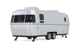 Retro Camper Trailer Stock Photo