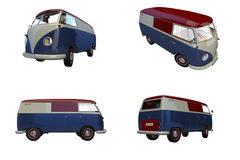 Retro Camper Van Stock Photo