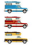 Retro campers Royalty Free Stock Photo