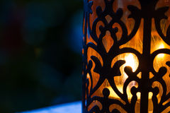 Retro candle lantern Stock Photo