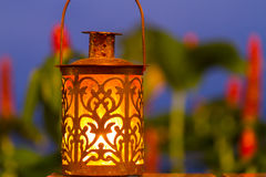 Retro candle lantern Royalty Free Stock Images