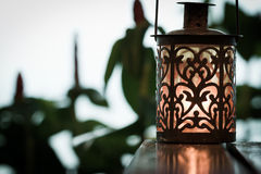 Retro candle lantern Royalty Free Stock Photo