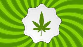 Retro cannabis icon video animation stock video footage