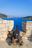 Retro cannon at Dubrovnik, Croatia Royalty Free Stock Image