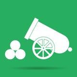 Retro cannon. Flat vector illustrator Eps 10 Royalty Free Stock Photo