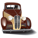 Retro car. Vectorial image of vintage car Royalty Free Stock Images