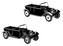 Retro car of 1920-1930 year. In two variations Royalty Free Stock Photos