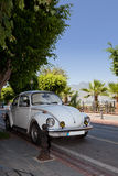 Retro car. On the street of Alanya, Turkey Royalty Free Stock Image
